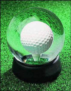The golf ball is in a liquid filled globe and  the object is to get it to land and stay on the tee. I have one in my house and have never had the patience to get it, but other members of the household can get in fairly short order. I personally suggest it as a replacement for the Bathroom Book!