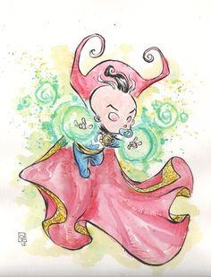 Skottie Young Baby Doctor Strange Comic Art