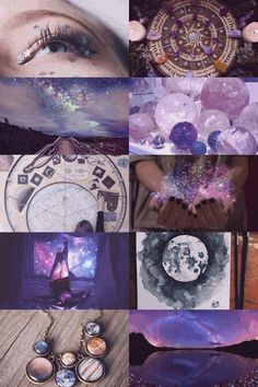 The Moon in a Jar Astrology/Cosmic Witch aesthetic bedroom Witch Aesthetic, Aesthetic Collage, Purple Aesthetic, Crystal Aesthetic, Wiccan, Witchcraft, Writing Inspiration Prompts, Writing Prompts, Color Splash