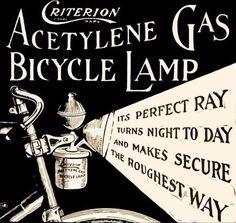 Vintage 1899 gas bicycle lamp ad.