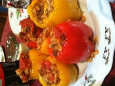 This recipe for SUCCULENT Stuffed Peppers is unbelievably delicious. You can cut the peppers with a fork and the stuffing is beyond describable. Even children and those who don't think they like these beautiful vegetables will KISS THE COOK when you serve these.