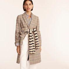 J.Crew: Dalton Topcoat In Glen Plaid English Wool For Women J Crew Looks, Jenna Lyons, Coats For Women, Clothes For Women, Glen Plaid, Fall Looks, Top Coat, Looking For Women, Wool Blend