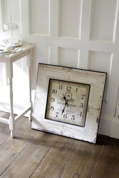 Cream Square Wall clock - Melody Maison®