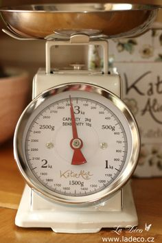 Kuchyň | Kuchyňská váha Cream - Retro, do 3 kg | La Déco
