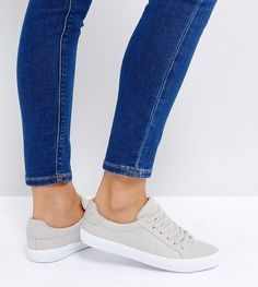 ASOS DEVLIN Lace Up Sneakers - Gray