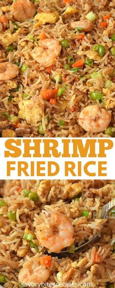 Fish Recipes, Seafood Recipes, Asian Recipes, New Recipes, Chicken Recipes, Cooking Recipes, Recipies, Chinese Shrimp Fried Rice, Fried Rice With Egg