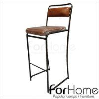 [ ForHome ] MH-357 Vintage Industrial LOFT 工業風 鐵管椅 駱駝皮鐵管吧台椅