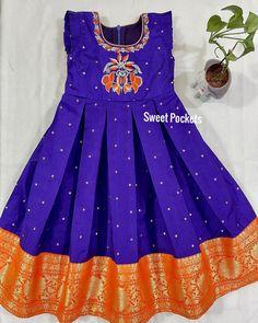 Baby Girl Dresses Diy, Stylish Dresses For Girls, Wedding Dresses For Girls, Long Frocks For Kids, Kids Frocks, Kids Saree, Kids Lehanga, Kids Indian Wear, Kids Dress Wear