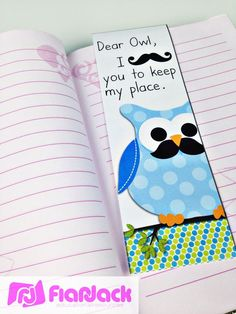 FREE bookmark with an owl mustache theme to use as student gifts and to help make reading fun!