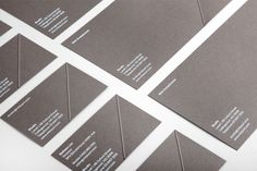 Logo and business cards designed by Hunt & Co. for Melbourne based architectural design studio Mitsuori Architects