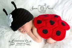 Ladybug newborn outfit, crochet ladybug outit  Check out this item in my Etsy shop https://www.etsy.com/listing/290194033/ladybug-baby-outfit-crochet-ladybug-baby