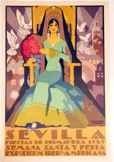 45: Seven Original Art Deco Sevilla Posters : Lot 45