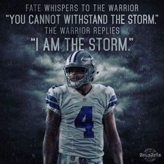 Cowboys fans love Dak Prescott, and for good reason. Here's a fans depiction of him and a powerful quote to match a powerful image of him. Dallas Cowboys Football, Dallas Cowboys Quotes, Dallas Cowboys Images, Dallas Cowboys Wallpaper, Sports Football, Cowboys 4, Football Memes, Football Sayings, Cowboys