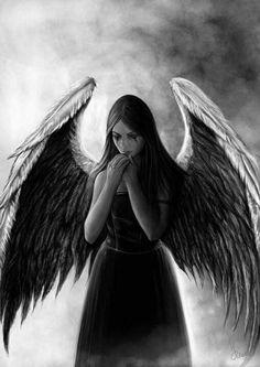 Dark Angels, Angels And Demons, Fallen Angels, Dark Fantasy Art, Angel Artwork, Gothic Angel, Dark Wings, Beautiful Dark Art, Angel Drawing