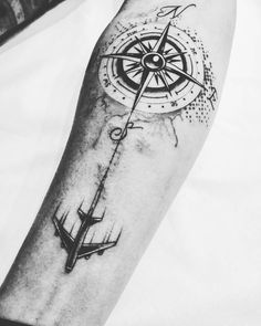 225 Compass Tattoos: Let A Compass Tattoo Guide Your Way! - 225 Compass Tattoos: Let A Compass Tattoo Guide Your Way! Map Tattoos, Rose Tattoos, Tattoo Quotes, Rose Tattoo Man, Compass And Map Tattoo, Compass Tattoo Design, Compass Drawing, Tattoo Girls, Tattoos For Guys