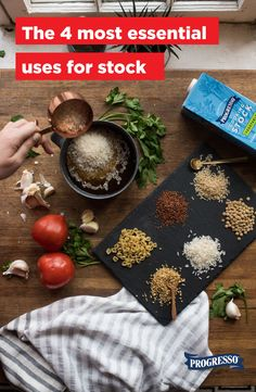 Stock is quite necessary for the basics like making a super flavorful soup or stew, but we recommend you bust it out of the pantry for these four taste-essential cooking tips as well