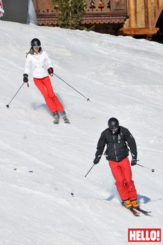 Whizzing down the ski slopes in the French Alps, the Duke and Duchess of Cambridge look delighted to be back together after a seven week separation.  The royal couple, who are both expert skiers, had nothing on their minds except enjoying the spring sunshine, perfect skiing conditions and precious time together in the French ski resort of Meribel.