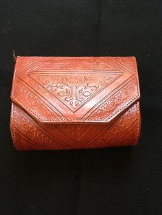 Moroccan Magic Tooled Leather Purse 1960's by BeCreative2 on Etsy