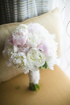 beautiful pink and white peony bouquet