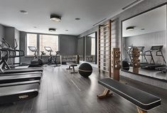 "252 Likes, 27 Comments - Ewa_ (@ewa_________) on Instagram: ""Stylish gym space #gymtime #luxuryfitness #stayfit#homegym#personalstudio#equipment…"""
