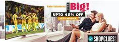 #Shopclues Big #TelevisionSale Upto 45% OFF + Extra 6% Cashback