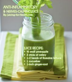 Anti-Inflammatory & Nerves-Calming Juice — Juicing For Health It's may sound strange, but Cucumber is Awesome in smoothies. Celery is hard for me to get past. It's worth it, but I prefer to eat it, not juice it. Healthy Juice Recipes, Juicer Recipes, Healthy Juices, Healthy Smoothies, Healthy Drinks, Cleanse Recipes, Green Smoothies, Nutribullet Juice Recipes, Simple Smoothies
