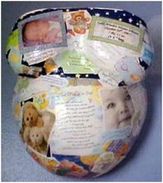 Belly Cast - Decoupage, Baby Shower Cards