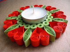 quilling gyertyatartó / quilled candle holder