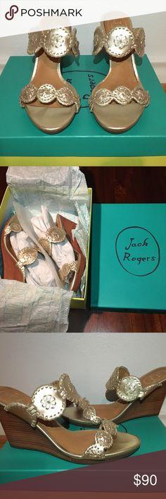 I just added this listing on Poshmark: Jack Rogers Luccia Wedge Sandals - Platinum. #shopmycloset #poshmark #fashion #shopping #style #forsale #Jack Rogers #Shoes