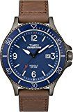 Timex Men's Casual Expedition Ranger TW4B10700GP Blue Dial and Brown Leather Band Watch: Amazon.ca: Watches