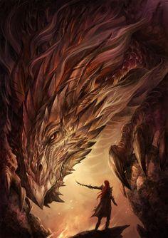 Fantasia, magia, dragões e outros monstros na arte conceitual de Sandara do DeviantArt