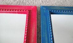 #Espejo #enmarcado #frames #framing #framery #shabby #shabbychic #fucsia #magenta #turquesa #azul #deco #lovedeco #mirror #vintage #decapado #desgastado #marcos
