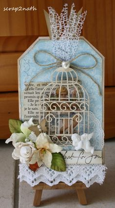 tag...using my birdcage stamp