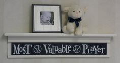 Navy Sports Wall Decor Nusery Room Decor  Most by NelsonsGifts, $48.00