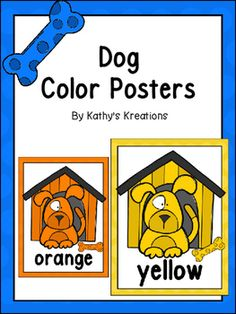 Help students recognize color words by hanging these adorable Dog Theme Color…