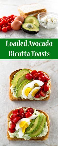 Loaded Avocado Ricotta Toast