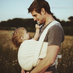 Daddies, please carry your babies - our world needs love and empathy, not guns and war... Thank you Russell and Rosie ♡