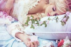 Sleeping Beauty  Photographer: Bernadette Newberry Photography Model: Ai Tenshi Misha Designer: Romantic Threads Hair/Makeup: Sarah Crain
