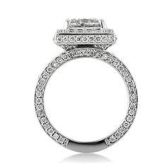 3.20ct Princess Cut Diamond Engagement Anniversary by MarkBroumand