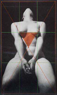 """Josep Renau - Proportionsstudie, """" Martas-Geometrie """", 1977"""
