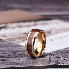 The silver tungsten carbide ring with wood inlay ring has Top quality and is a real tungsten ring with real Koa wood inlay. The comfort fit, which is hypoallergenic and scratch resistant, make it very comfortable to wear. This ring is a vintage style. Perfect Engagement Ring, Band Engagement Ring, Antique Engagement Rings, Antique Rings, Wood Inlay Rings, Tungsten Carbide Rings, Wedding Jewelry, Wedding Rings, Wedding Stuff