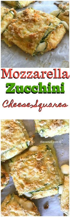 Low Carb Baked Zucchini Mozzarella Cheese Squares - KETO FRIENDLY and delicious!!