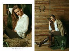 Tame me not fashion shoot: horses, brown, relax, autumn, white shirt   More photos here: http://goodoshina.blogspot.ru