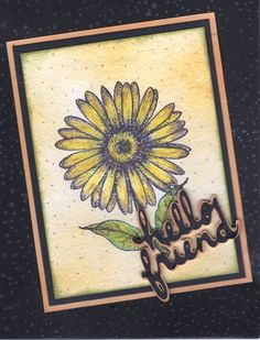Watercolor, die cut words from Cricut.  One of my first cards.
