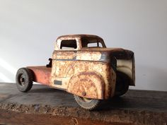 Rusty steel trucks and cars. The rough well-worness is the love in these. Mint is unloved. Guy Stuff, Wooden Toys, Mint, Trucks, Steel, Cars, Wooden Toy Plans, Wood Toys, Woodworking Toys