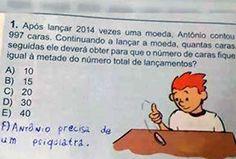Esta, que fez uma sugestão bem razoável sobre o problema de Antônio.