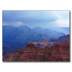 Grand Canyon Spring Storm travel photo postcard by Tammy WInand Western Skies