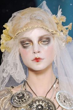 """zoetica: """" I've been collecting these images from Galliano's perfect, gaudy, vaguely-Russia-inspired F/W 2009 tidbits for a few months now, mostly for art and styling reference, but also because they..."""