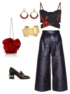 """""""evening pants"""" by gosiawillemse on Polyvore featuring Yves Saint Laurent, Gucci, Nina Ricci and Isabel Marant"""
