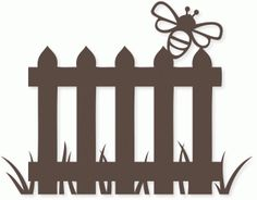 Silhouette Design Store - View Design #77385: bee fence